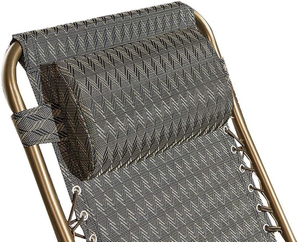 YXB Silla Fresca de Verano PE Rattan Lunch Break Sillón reclinable Silla Plegable de Oficina Silla para Adultos Mayores Silla de Playa reclinable Ocio (Color: A) A OImdLQ