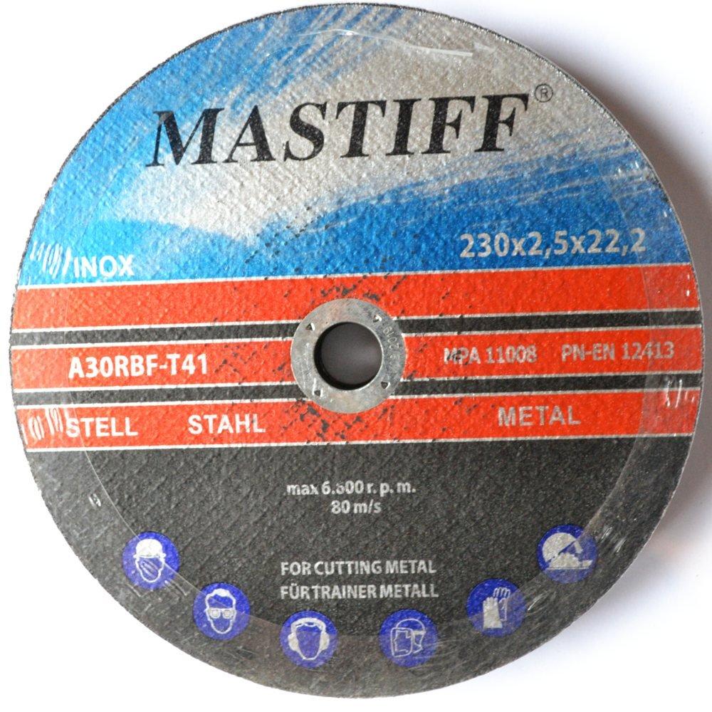 Pack of 10 Cutting Discs for Steel 230x 2.5 mm T41 Mastiff