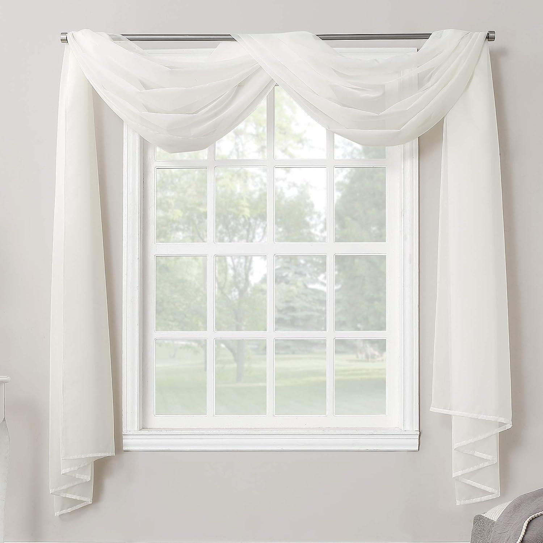 No 918 Emily Sheer Voile Rod Pocket Curtain Panel 216 Valance Eggshell Amazon Ca Home Kitchen