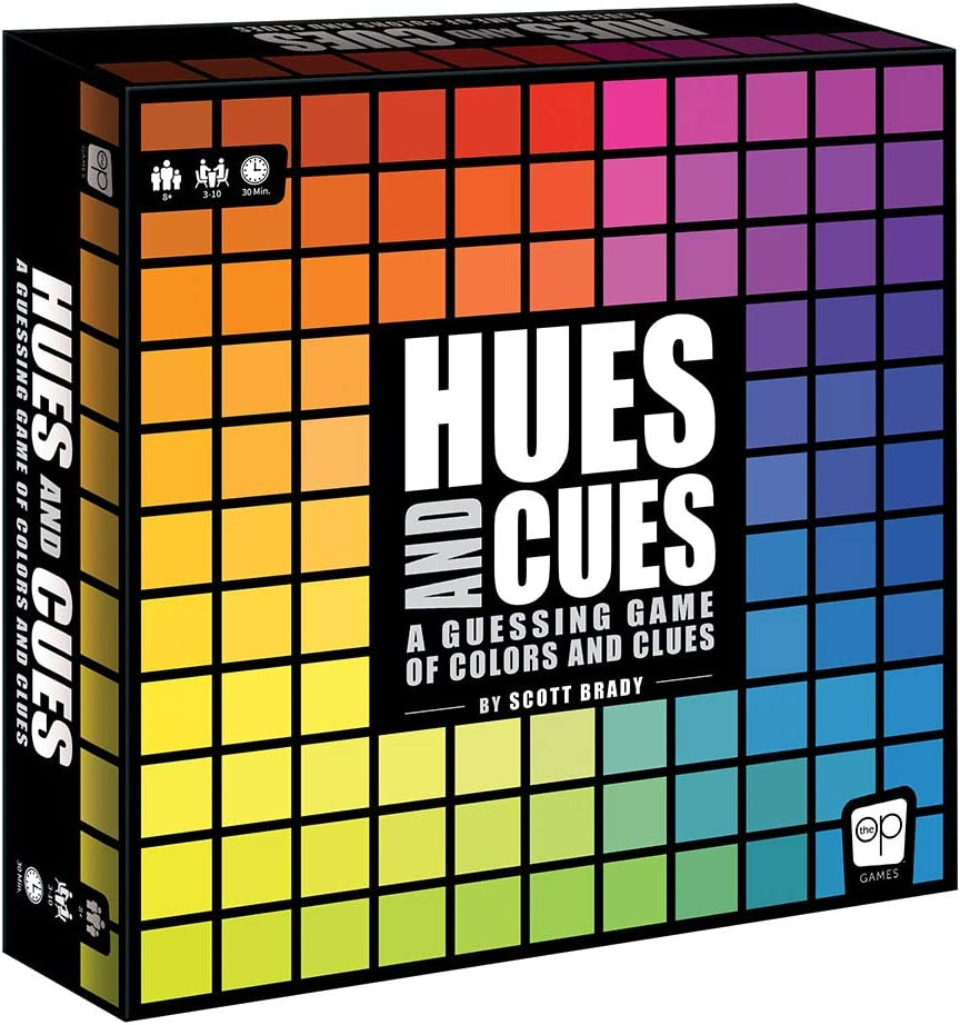 USAOPOLY HUES and CUES//Vibrant Color Guessing Game Perfect for Family Game Night//Connect Clues and Colors Together//480 Color Squares to Guess