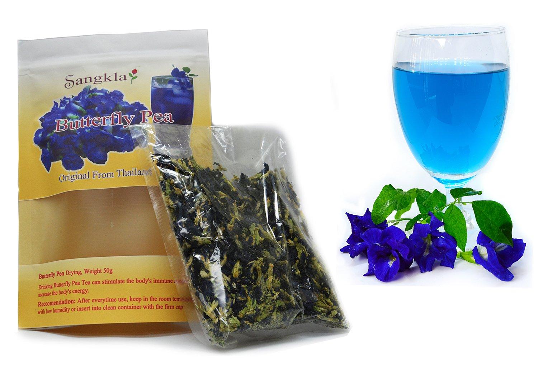 Sangkla Butterfly pea flower Organic Tea Dried Herbs Blue Seed Pack 50g