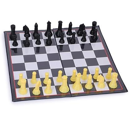 Skee Tournament Chess Foldable Chess Game Set with Plastic Staunton (Senior)