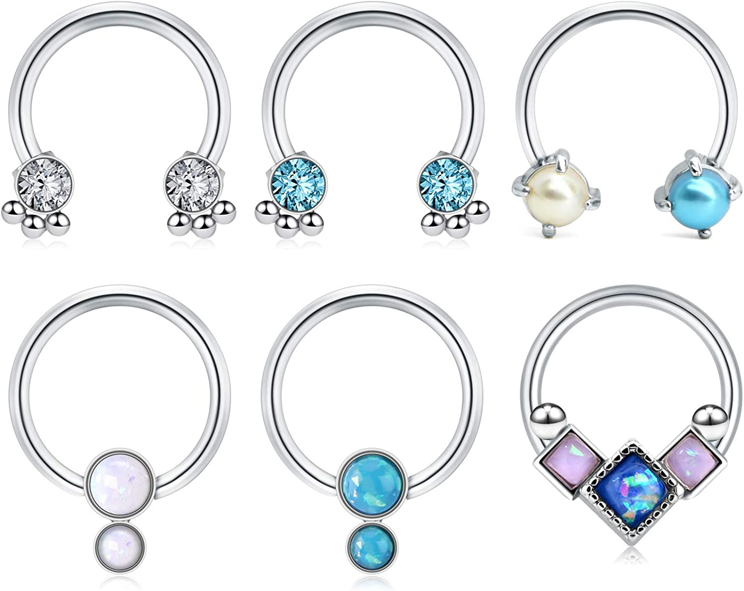 Amazon Com Acefun Stainless Steel Nose Septum Rings Daith Tragus
