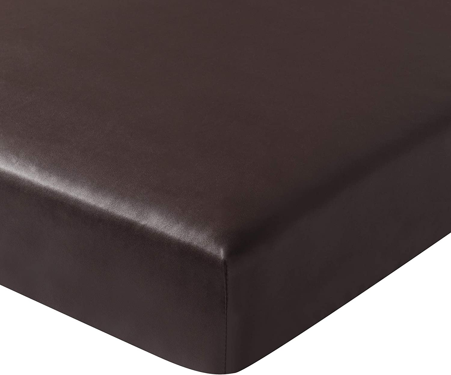 Subrtex Spandex Elastic PU Leather Couch Stretch Water-Proof Patio Durable Chair Slipcovers Furniture Protector Slip Cover for Settee Sofa Seat for Replacement (Chair Cushion, Chocolate Leather)