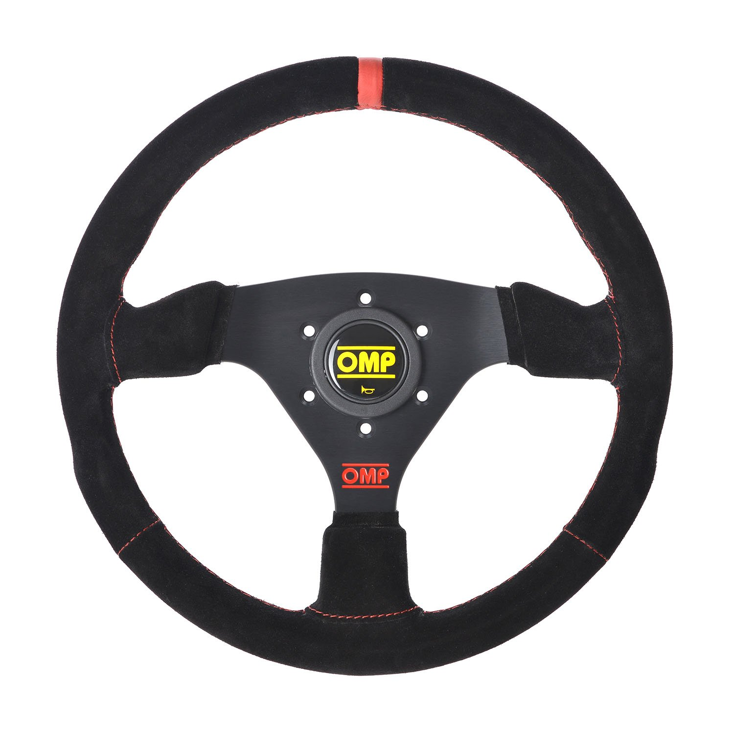 Special Edition! OMP Racing Targa Steering Wheel Suede Leather 330mm Red Trim & Logo!