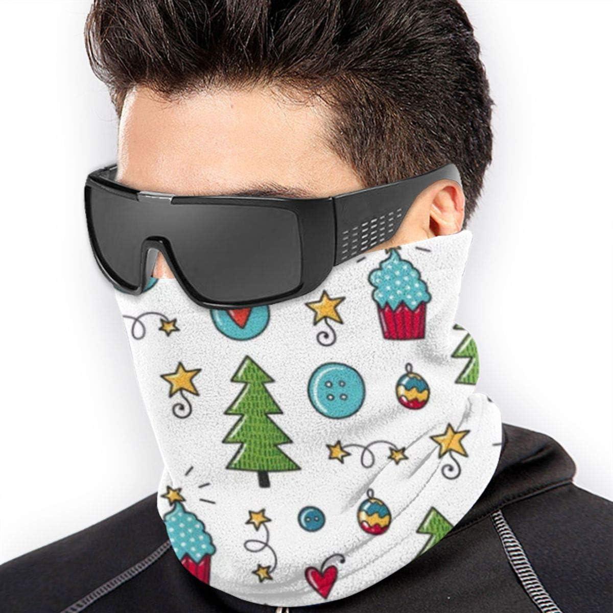 WENTS Sciarpa Multifunzionale Maschera Unisex In Micropile Resistente al Pilling Resistente al Vento per Motociclisti da Corsa a Piedi 2 Pezzi