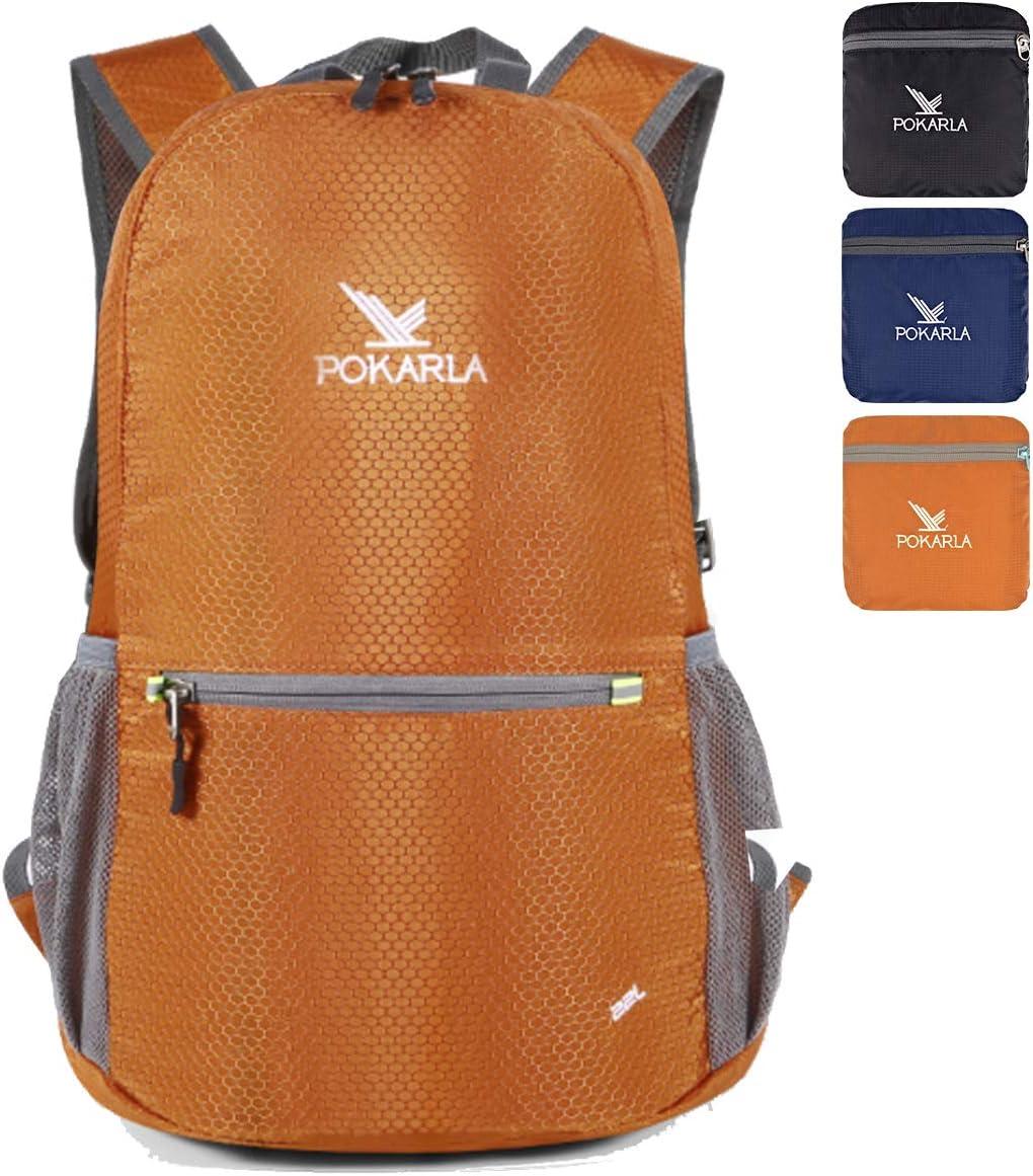 POKARLA 22L Durable Ultralight Packable Mochila Plegable Resistente al Agua Estudiante Senderismo Daypack Ni/ños Mochila peque/ña Bolsillo Exterior Daypack Little Bag Unisex