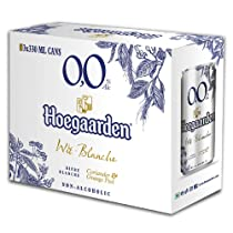 Hoegaarden 0.0 Non Alcoholic Wheat Beer Pack of 3 , 3 X 330ml