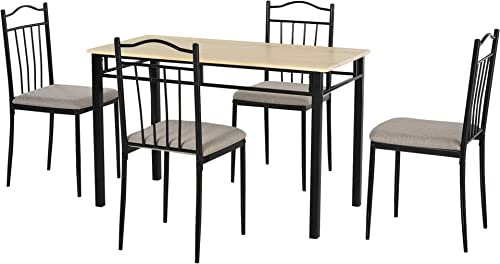 HOMCOM 5 PC Dining Set 1 Table 4 Chair