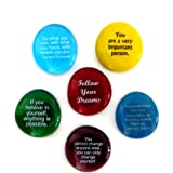 Lifeforce Glass Motivation Stones, Inspirational and Encouraging Sayings on Glass Stones Selected to Help You Make Your…