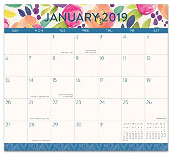 Orange Circle Studio 2019 Magnetic Monthly Calendar Pad August 2018