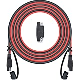 POWISER 25Feet SAE to SAE Extension Cable Quick Disconnect Connector 16AWG,for Automotive,Solar Panel Panel SAE Plug…