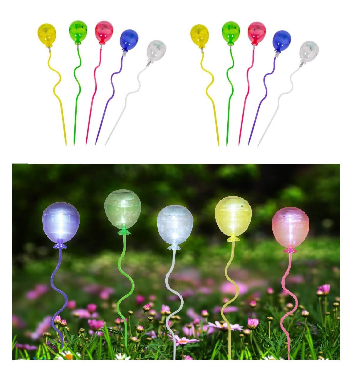 5 x Leuchtkugel Solarballon Leuchtstab Solarleuchte Wegeleuchte Gartenlampe