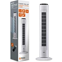 DUTCH ORIGINALS Ventilator met afstandsbediening, Torenventilator 50 W, 3 snelheden, Stille oscillerende kolom, 74CM…