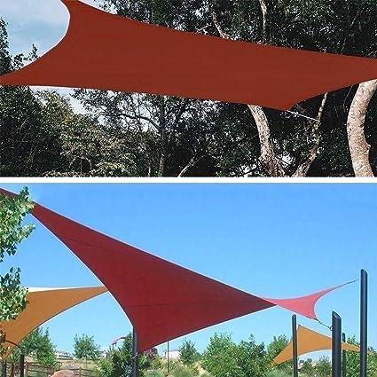 Toldo Vela de Sombra XUEP Rectangular Impermeable De Tela Parasol ...