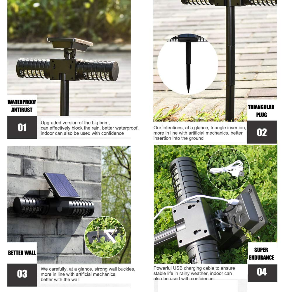 Shanglite Outdoor Solar Insect Killer Light Waterproof Garden Lamp Villa Outdoor Camping Carry Mosquito Repellent Lawn Insertion Light by Shanglite (Image #5)