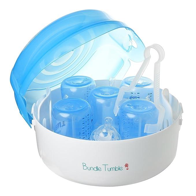 Amazon.com: Esterilizador a vapor de microondas para bebé ...