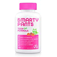 Daily Gummy Multivitamin Teen Girl: Vitamin C, D3, & Zinc for Immunity, Biotin for...