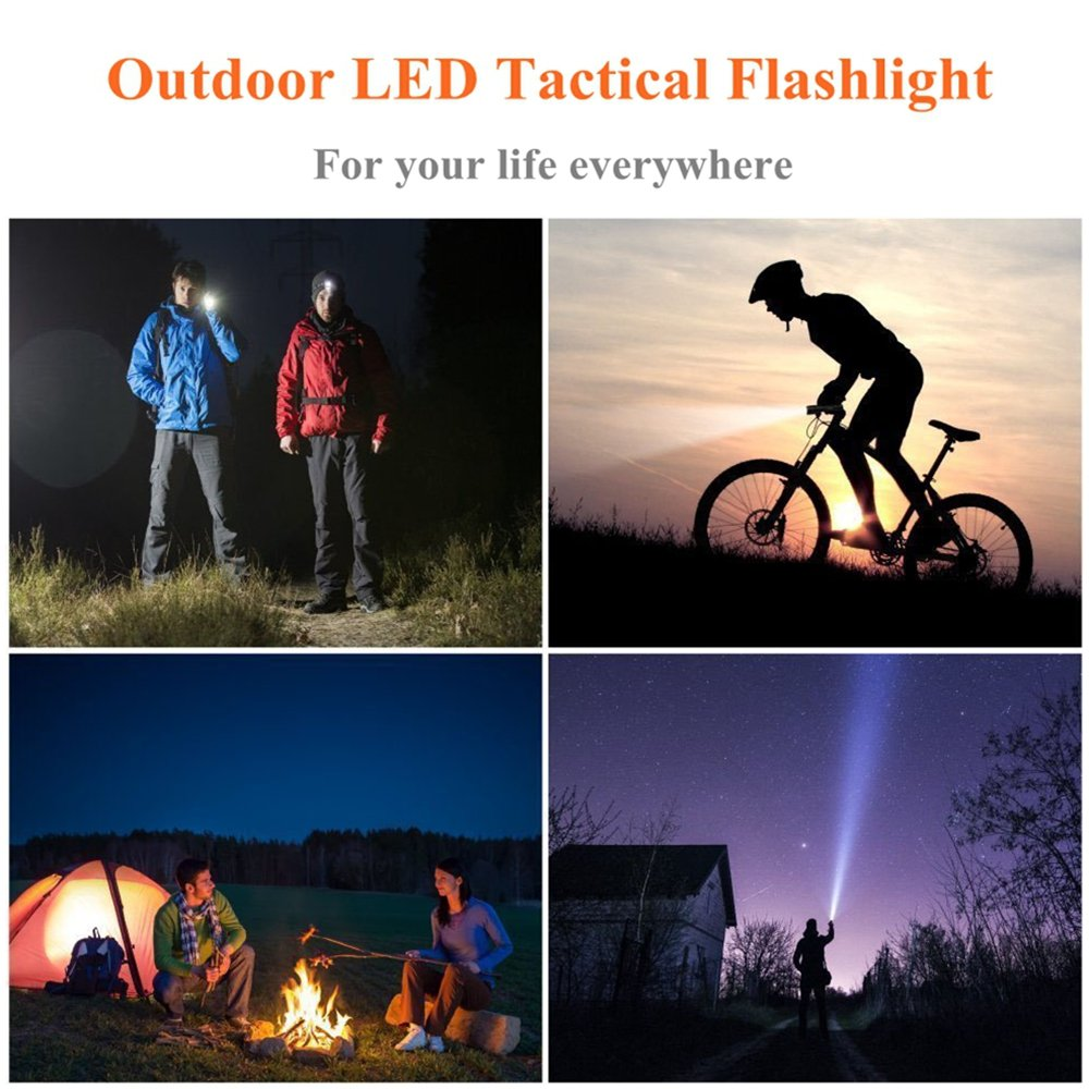 Modogirl Mini Outdoor Ultra Light Luxury Gold Q5 LED Tactical Flashlight, 350 Lumen Powerful Torch Waterproof with Rechargeable 14500 Battery (Battery Not Included) by Modogirl (Image #4)