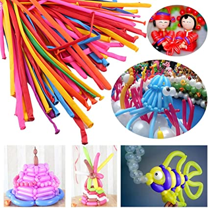Magic Long Animal Flower Party Twist Tying Making Latex Balloons Fashion Color