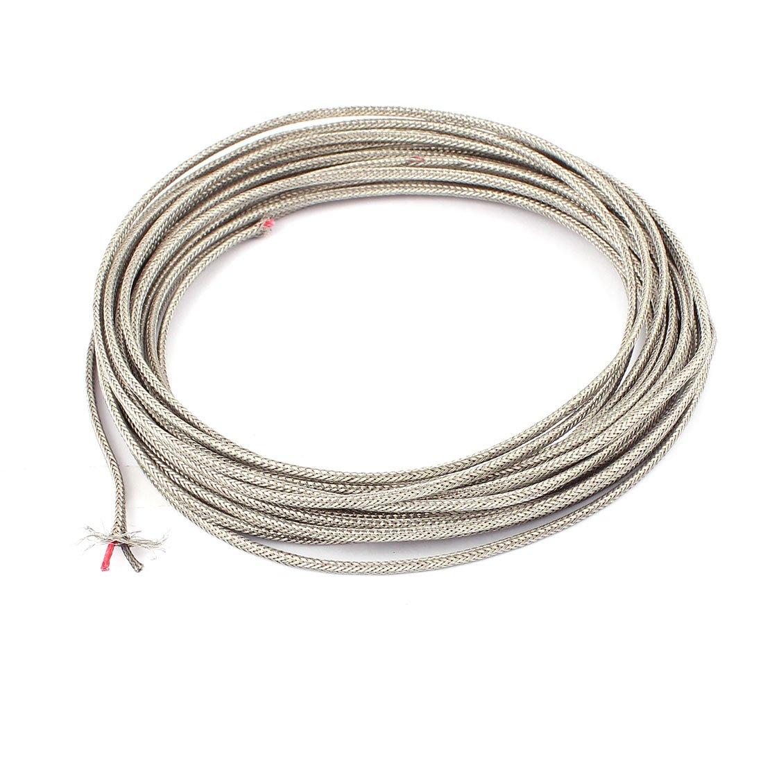 Uxcell Temperature Sensor Probe Tester K-Type Thermocouple Wire, 0.4 mm x 7.5 m