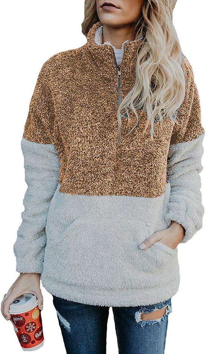 Amazon.com: Wobuoke Fashion Casual - Blusa de terciopelo ...