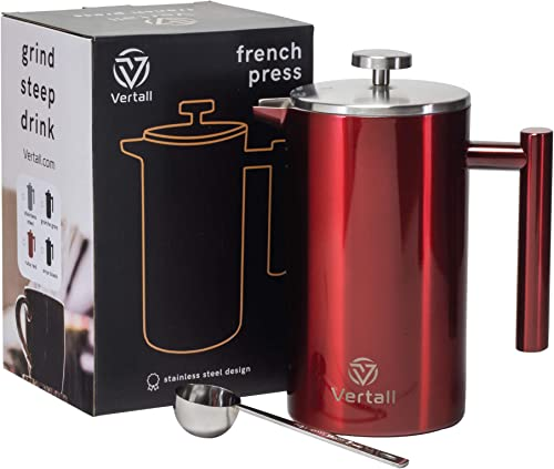 Vertall Large French Press Coffee Maker 34oz