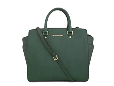 Image Unavailable. Image not available for. Color  Michael Kors Selma Large  NS Tote Saffiano Malachite Leather 73403d5352