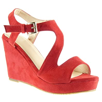Sexy Chaussure Lanière Mule Mode Sandale Femme Plateforme Angkorly fXwRdf