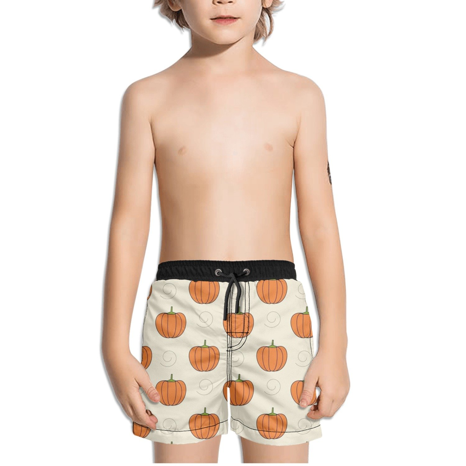 Ouxioaz Boys Swim Trunk Pumpkins Clipart Beach Board Shorts