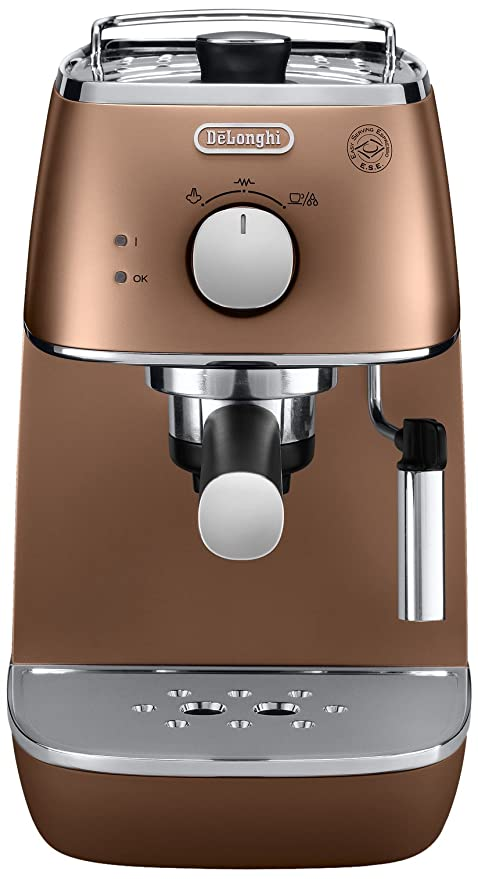 DeLonghi ECI 341.CP - Cafetera (Independiente, Semi-automática, Espresso machine, Coffee pod, De café molido, Cobre, 50/60 Hz)