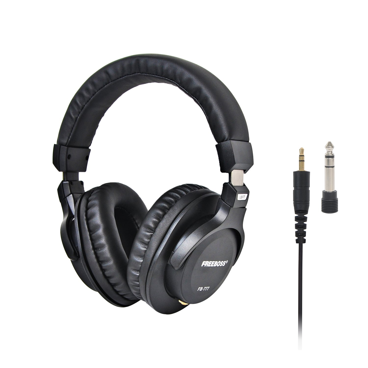 Freeboss FB-777 40mm Drivers Single-side Detachable cable 3.5mm Plug 6.35mm adapter Monitor Headphones