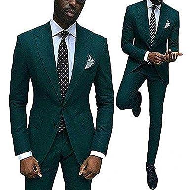 Solovedress Traje - para Hombre Negro Verde 38US/UK & 48EU ...