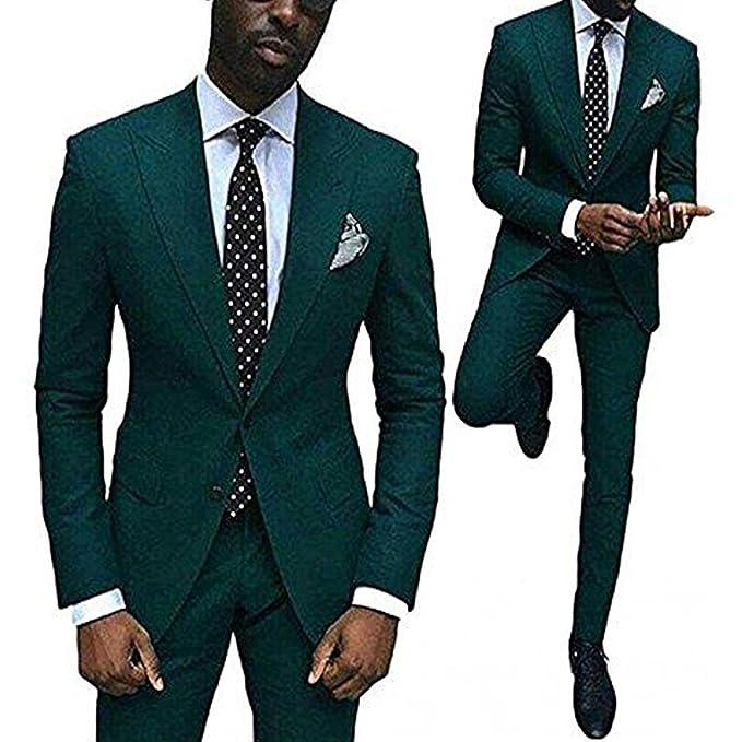 Springplus Mens Slim Fit Two-Piece Mens Suit Tuxedos ...