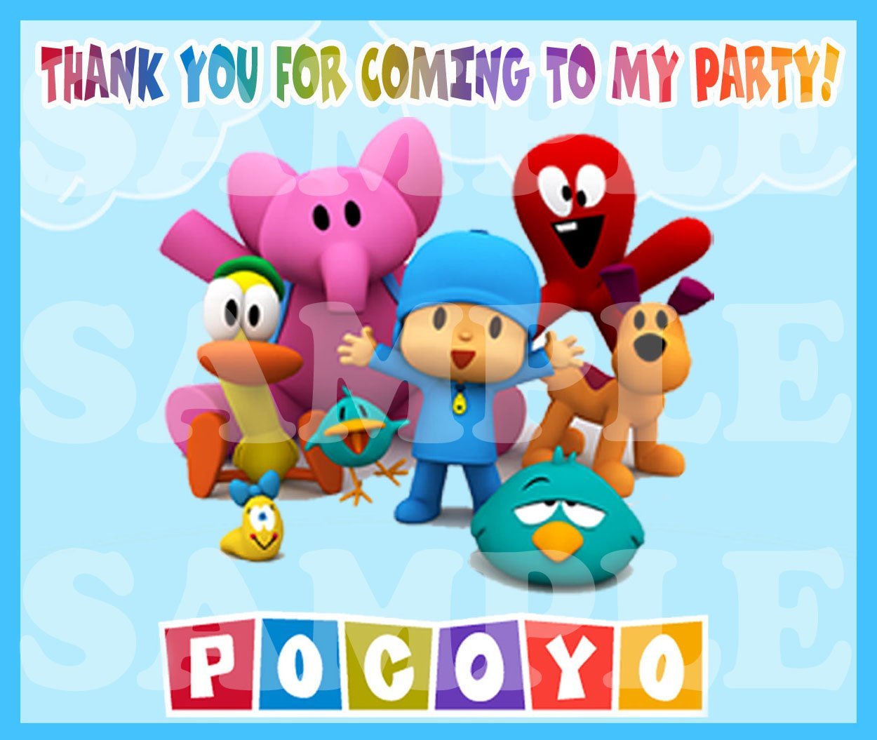 Amazon.com: Pocoyo fiesta decoraciones bolsa de regalo ...