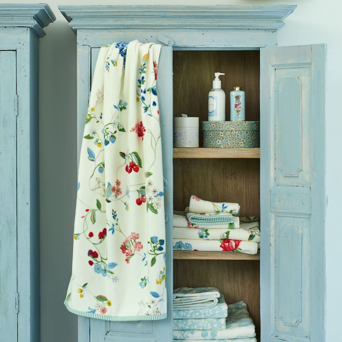 PIP STUDIO Serviette De Toilette Humming Birds Blanc Couleur 55x100 Taille Star White