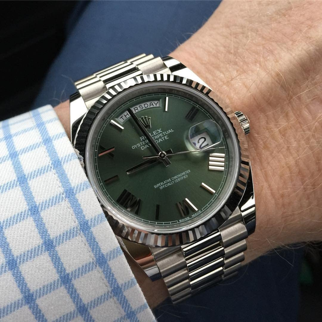 Amazon.com Rolex Day,Date 40 President White Gold Watch