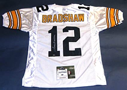 half off 40ff2 64493 TERRY BRADSHAW AUTOGRAPHED PITTSBURGH STEELERS W JERSEY AASH ...
