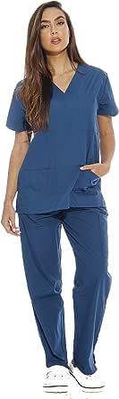 Just Love Women's Scrub Sets Six Pocket Medical Scrubs (V-Neck Cargo Pant)