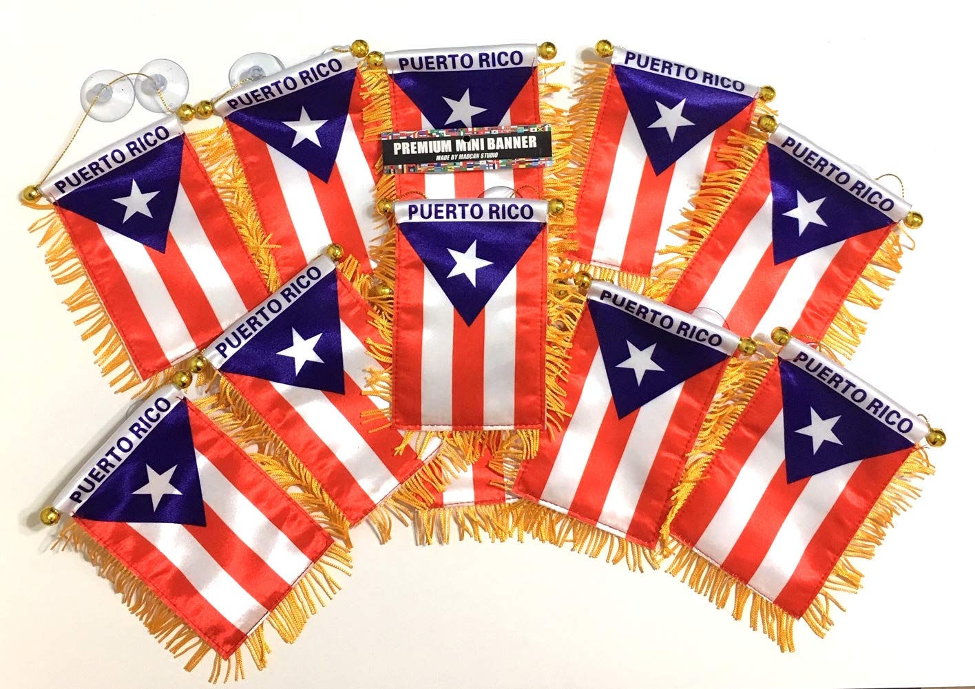 Mad can studios Puerto Rico Flags by The Dozen for Cars Automobile Accessories Home Wall Art Nice Country Flags Wholesale Direct (12)