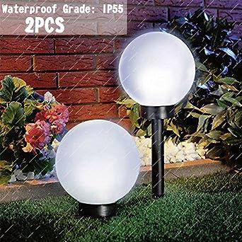 Garden Lampe Lumière Boule Solaire D'extérieur Path 8vmn0NywO