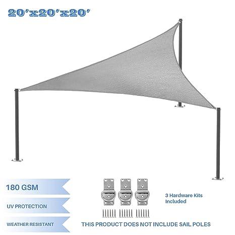 Amazon Com E K Sunrise 20 X 20 X 20 Light Grey Equilateral