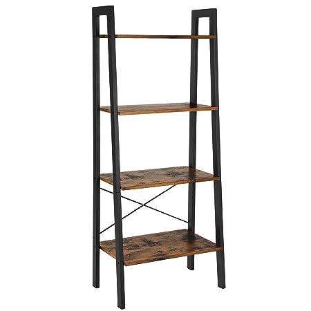 Stilvoll Meine Kuche Aufbau Sammlung | Vasagle Standregal Bucherregale 4 Ebenen Leiter Regal Stabiles