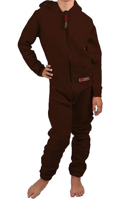 Gennadi Hoppe Kinder Jumpsuit - Jungen, Mädchen Onesie Jogger Einteiler Overall Jogging Anzug Trainingsanzug