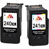 Mony Remanufactured Canon PG-240 CL-241 XL Ink Cartridges (1 Black, 1 Tri-Clour, 2-Pack) Used in Canon Pixma MG3620 MG3520 MX