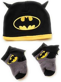 Batman Infant Baby Toddler Cape Socks and Beanie Hat Bundle 0-12 Months (2 6b53907cd012