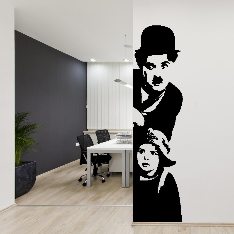 Adesiviamo 930-M murale Charlie Chaplin: Il Monello Wall Sticker Vinyl Decal Adesivo prespaziato in Vinile Design Arredamento per Decorazione pareti e muri