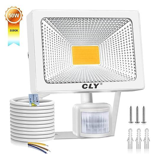 CLY 50W Foco LED Proyector,4500 Lúmenes de focos LED Exterior,IP66 ...