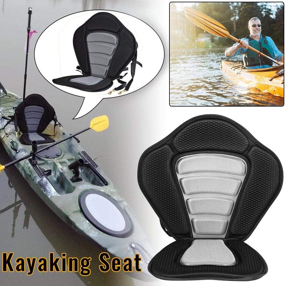 Precauti Asiento de Kayak Asiento de coj/ín de Kayak Ajustable con Respaldo