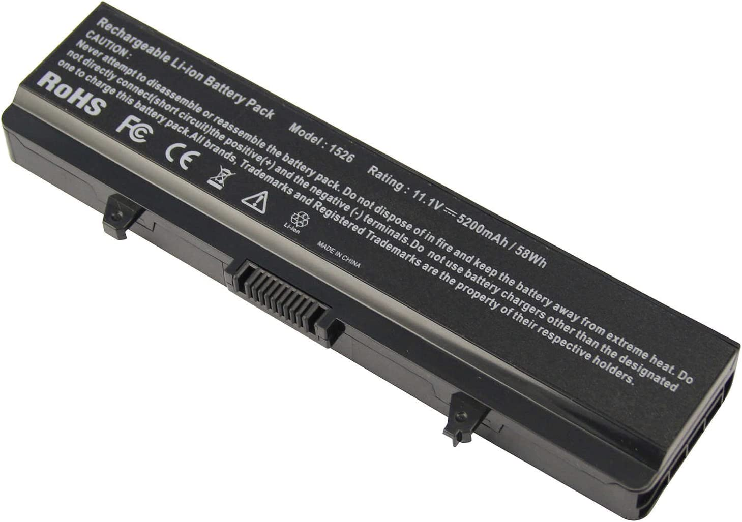 New Battery 58Wh for Dell Inspiron 1525 1526 1545 PP29L PP41L PN GW240 RN873 GP952 M911G X284G K450N RU586 G555N 0F965N OF965N XR693 C601H D608H GW252 HP297 for Dell 1440 1750 Laptop